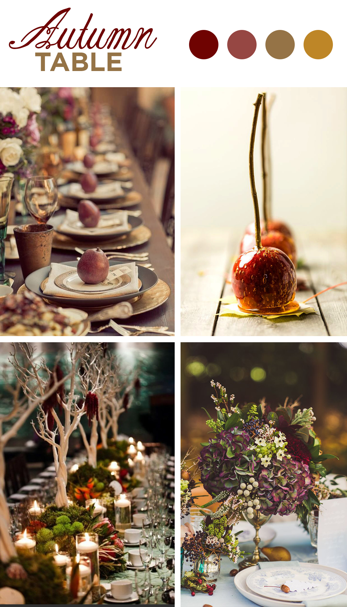 Mariage table automne