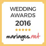 Wedding Awards 2016 Mariages.net
