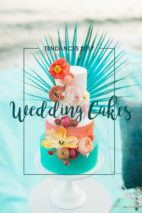 tendance mariage wedding cake dessert gateau idee inspiration tropical naked cake drip cake patissier lyon