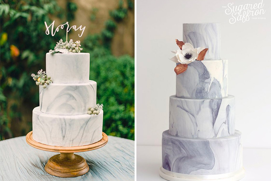 mariage wedding cake idee tendance inspiration naked cake drip cake marbre wedding cake noir tropical